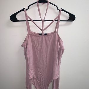 Pink Forever 21 bodysuit